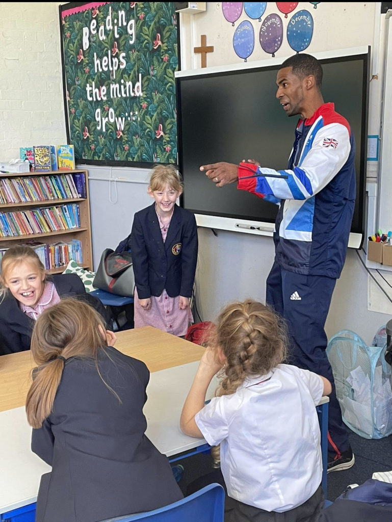 Paralympian Footballer- Alistair Patrick Hesleton – visits St Eanswythe's!