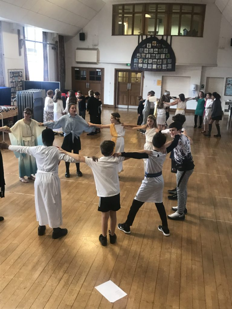 Year 6 dances 'The Zorba'
