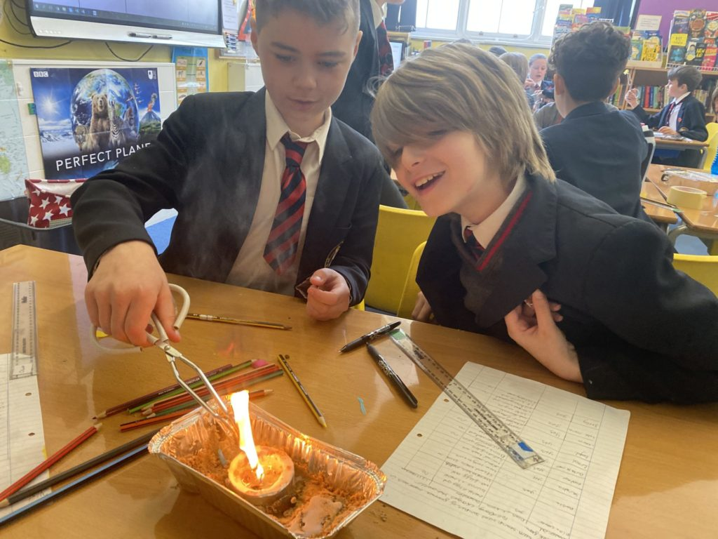 Burning to Create Chemical Changes