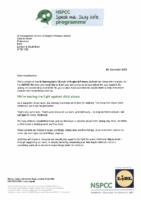 NSPCC Letter (2019)