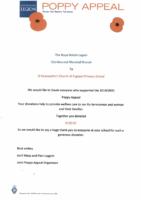 Poppy Appeal Certificate (2019)
