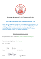 SAFEGUARDING AND CHILD PROTECTION POLICY 2019