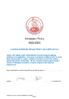 St Eanswythes Primary Admission Policy 2022 23 amend.docx