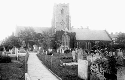Folkestone, St Mary's and St Eanswythe's Church 1892